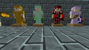 New tiers of armor and weapons, on the new armor stands.