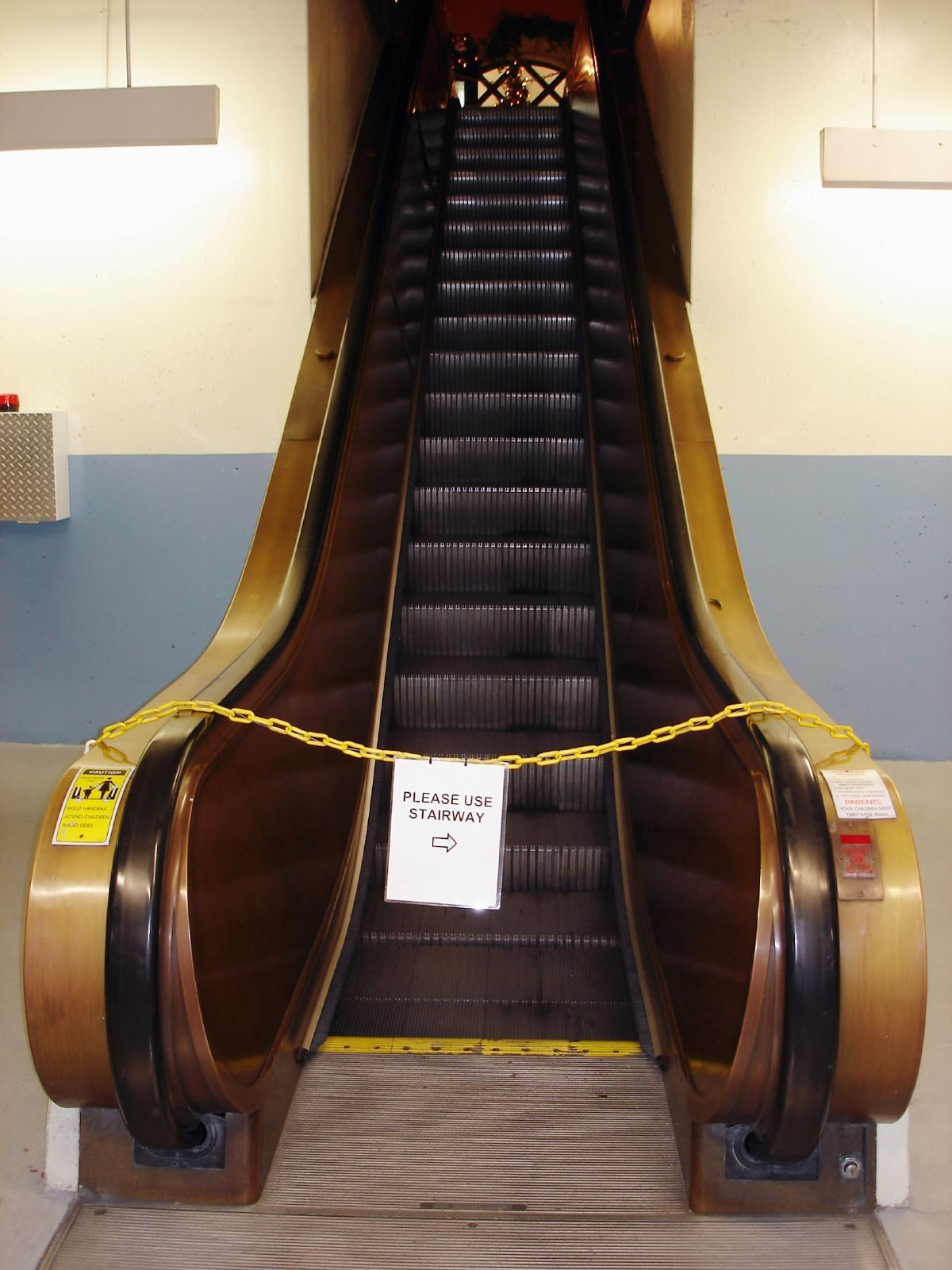 Stealth was to be my broken escalator. Sorry for the convenience. Photo by Kevin Simpson via Flickr.